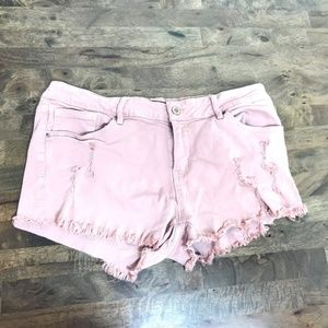 Angel Kiss Pink Distressed Ripped Shorts 13